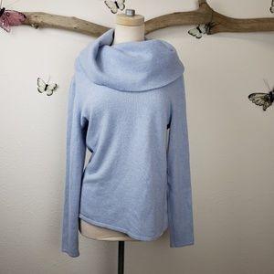 Sundance 100% cashmere turtleneck sweater blue